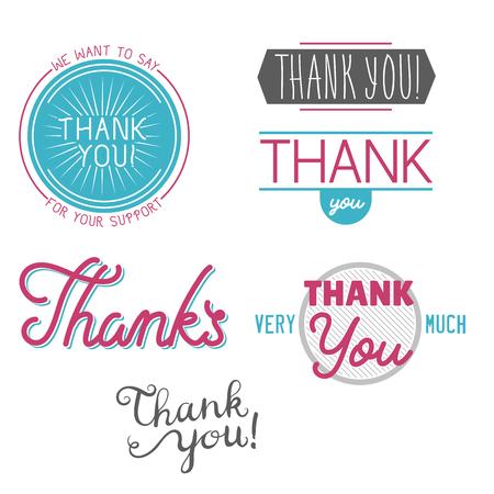 Gracias Gratitud Sensación Emociones Texto Letras Vector