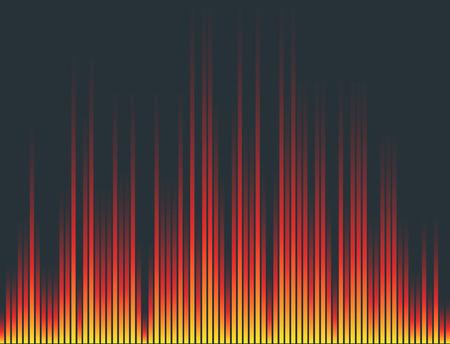 Galiseur de musique numérique vecteur modèle de conception des ondes audio illustration de signal de visualisation de signal audio. Banque d'images - 83313203