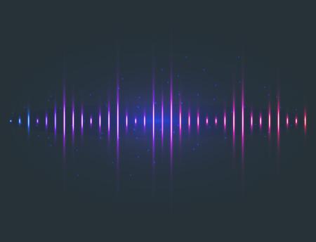 벡터 디지털 음악 이퀄라이저 오디오 파도 디자인 서식 파일 오디오 신호 시각화 신호 그림.