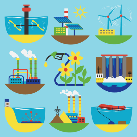 alternative energy sources: Alternative energy sources vector illustration concept