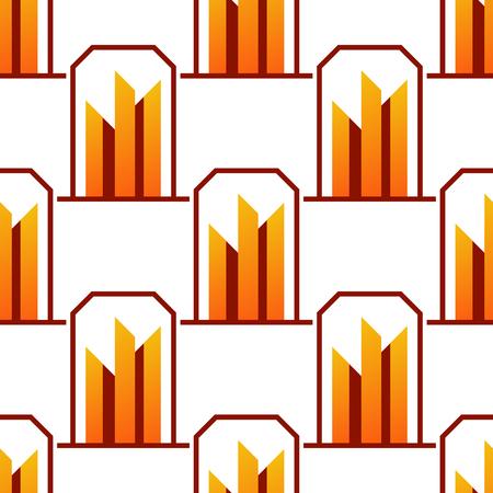 Wolkenkratzer Gebäude nahtlose Muster Gebäude Bürogebäude Architektur Gebäude Business Business Hintergrund Vektor-Illustration . Moderne Stadt Wolkenkratzer Architektur städtischen Innenstadt Design Standard-Bild - 83490375
