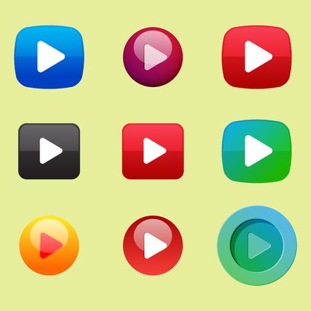 UI interface button vector illustration Illustration