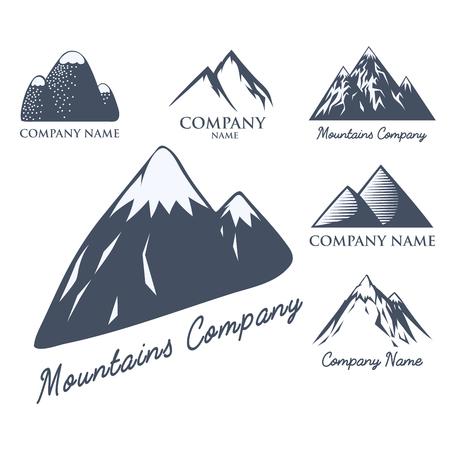 Montagne, vecteur, silhouette, nature, extérieur, rocheux, neige, glace, haut, décoratif, paysage, voyage, escalade, colline, pic Banque d'images - 83760916