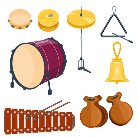 Musical instrument set vector illustration