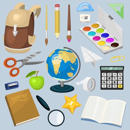 School supplies vector illustration.