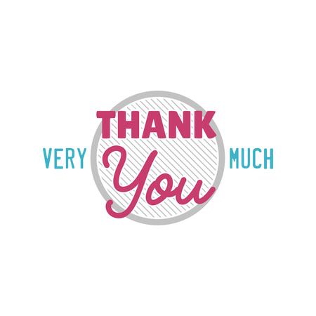 Bedankt dankbaarheid - tekstbelettering vector Stockfoto - 86847295