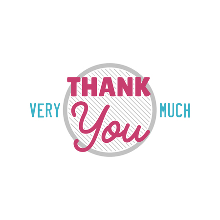 Thank you gratitude - text lettering vector Illustration