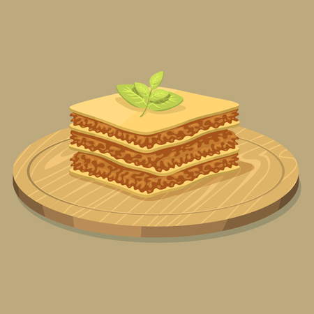 Lasagna pasta whole wheat corn rice noodles organic food kitchen yellow nutrition dinner products vector illustration. 向量圖像