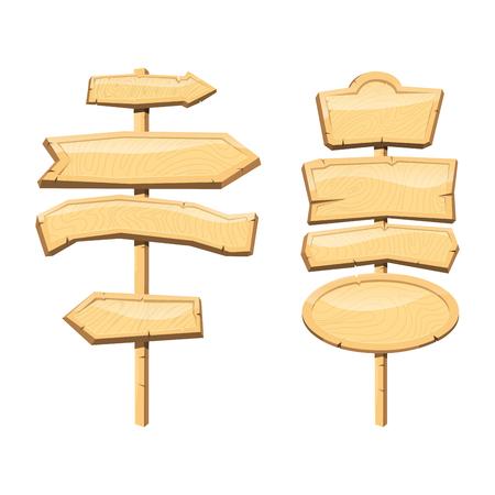 Gids houten bord weg bord. Stock Illustratie