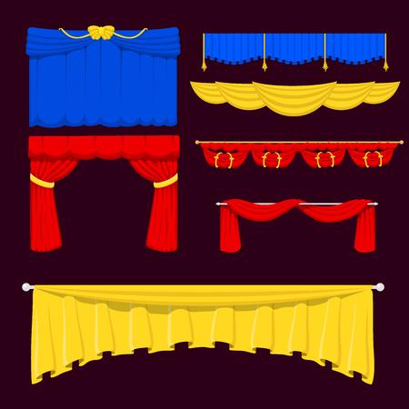 Theater scene blind curtain Illustration