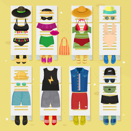 Summer time beach fashion clothes looks design