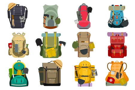 Backpack rucksack travel tourist knapsack outdoor hiking traveler backpacker baggage luggage.
