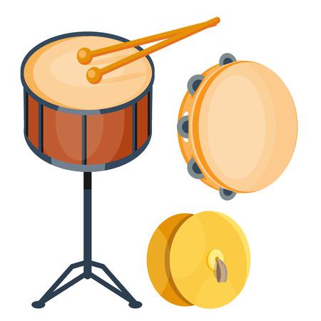 타악기 벡터 일러스트 레이션의 음악 드럼 나무 리듬 음악 악기 시리즈 세트 일러스트