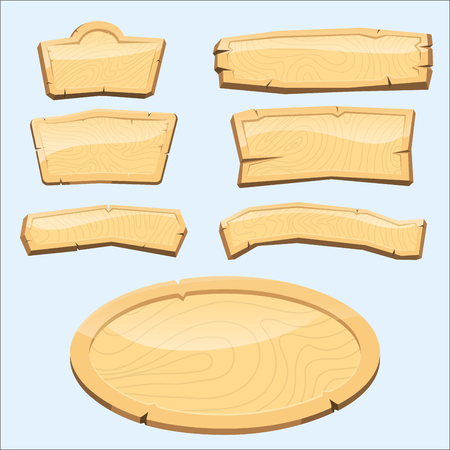 Directory wooden signboard road board wood tablet indicating index arrowhead way vector illustration Ilustração