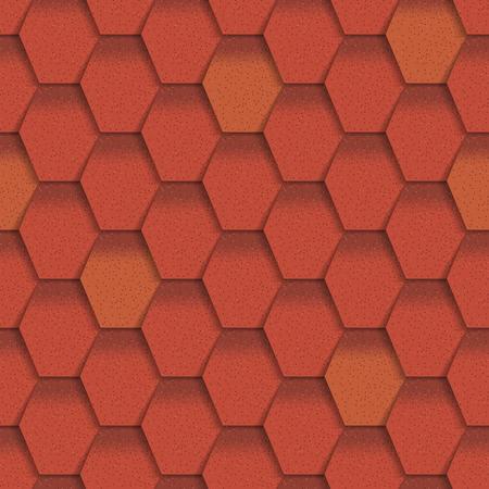 Daktegels van klassieke textuur en detail naadloze het patroon materiële vectorillustratie van het detail. Buitenkant van de bouw architectuur patroon achtergrond herhaal structuur. Stockfoto - 87213609