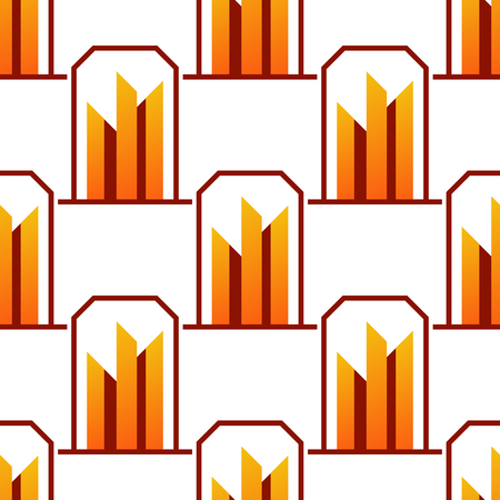Skyscrapers buildings seamless pattern.