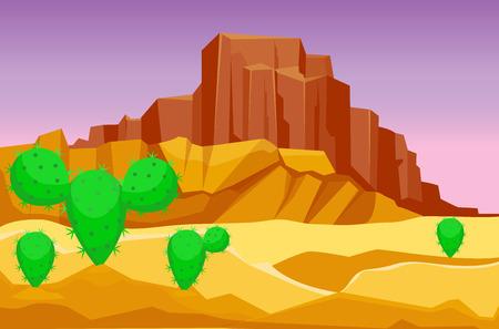砂漠山の砂岩荒野風景の背景は、太陽暑い砂丘風景旅行ベクトル イラストの下で乾燥します。環境シーン砂岩アフリカ アウトドア ・ アドベンチャ  イラスト・ベクター素材