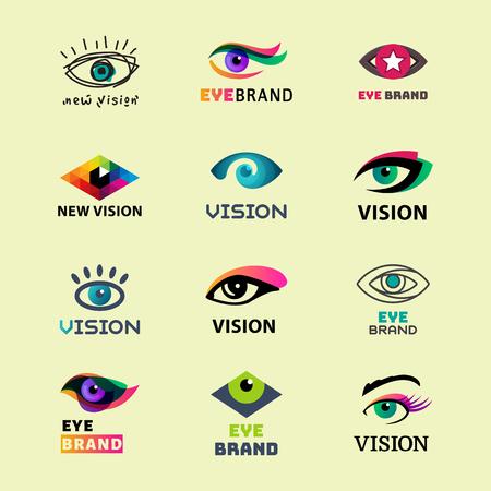 Eye blinker business icon daylight glimmer template logotype idea keeker light peeper company logo badge vector illustration. Look see creative eyeball optical watch vision emblem. Illustration