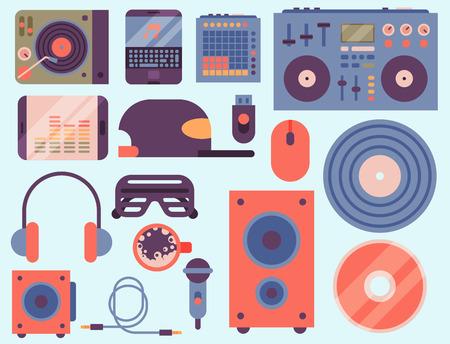 Hip Hop Zubehör Musiker mit Mikrofon Breakdance expressive Rap Musikinstrumente. Moderne Mode Person Tänzer trendige Symbole Lifestyle städtischen gut aussehend Rapper Teenager expressive Zeichen. Standard-Bild - 87213685