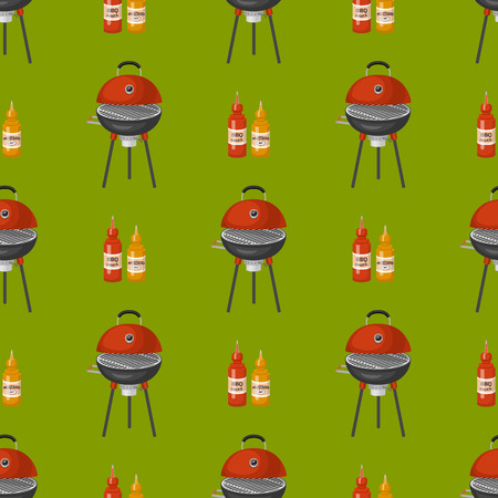 Grilling equipment pattern.