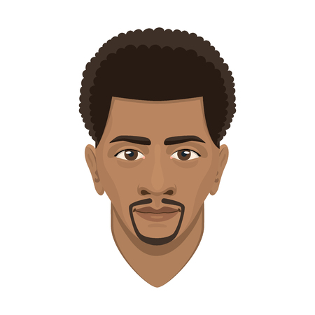Jeune afro homme avatar. Banque d'images - 87280917