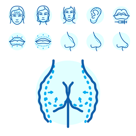 Plastic surgery illustration. Illustration