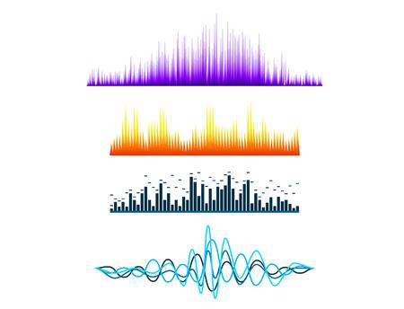 Digital music equalizer audio waves design template