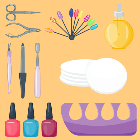 Manicure foot and hand care fingers instruments.