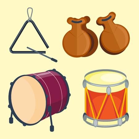 Musical drum wood rhythm music instrument.