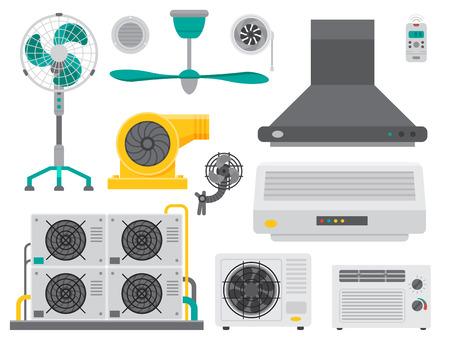 Airconditioner airlock systemen apparatuur. Stock Illustratie