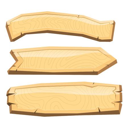 디렉터리 나무 간판 도로 보드 나무 태블릿. 일러스트