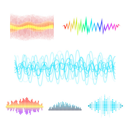 디지털 음악 이퀄라이저 오디오 파도 디자인입니다.