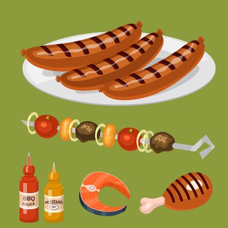 Barbecue Hausmannskost. Standard-Bild - 87527025