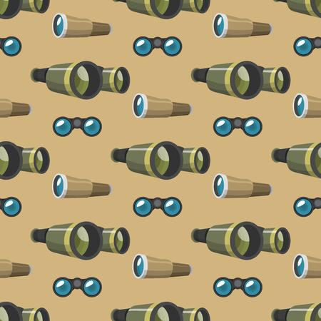 Professional camera lens binoculars seamless pattern. 版權商用圖片 - 87527028