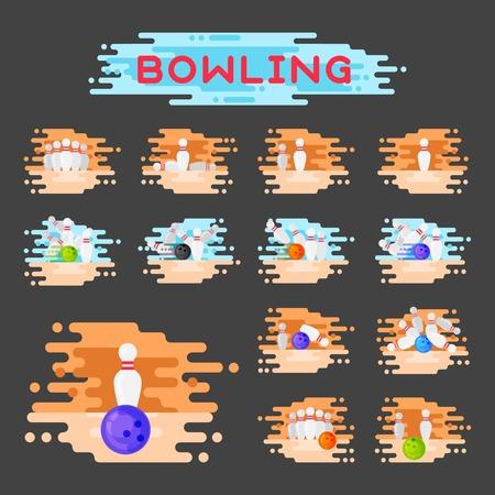 Vector bowling logo. 版權商用圖片 - 87527030