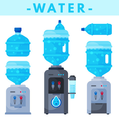 male symbol: Set of different water bottles icon.