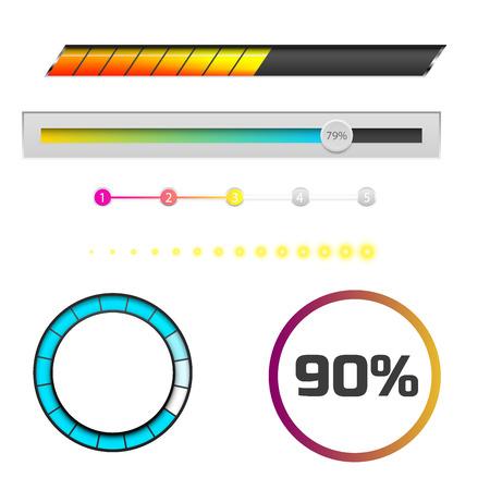 Progress loading bar indicators.
