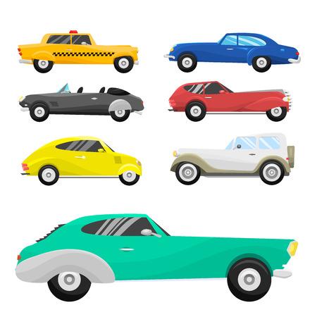 레트로 빈티지 오래 된 스타일 자동차 차량입니다.