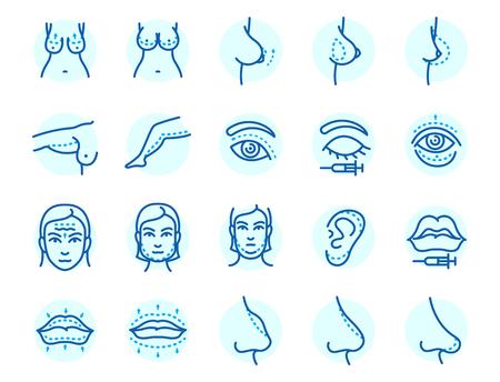 Plastic surgery body parts