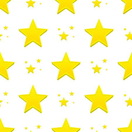 Different style shape silhouette shiny star seamless pattern vector illustration on blue background Illustration