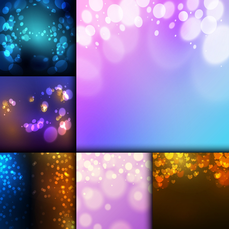 Creative bokeh abstract texture colorful blur background ornament vector illustration.