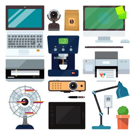 Groep computer kantoorapparatuur