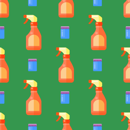 Set of household bottles pattern.