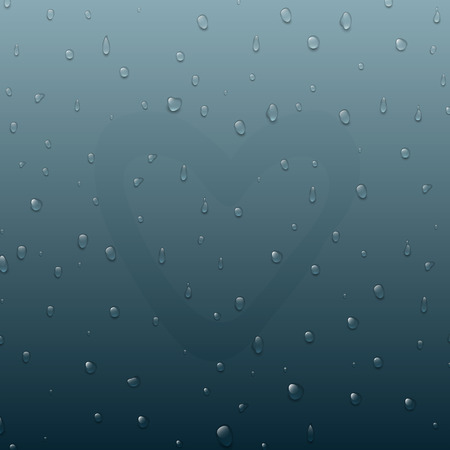 現実的な純粋で透明な水を心を背景にしました。