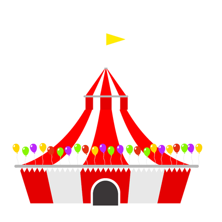 Circus show entertainment tent Illustration