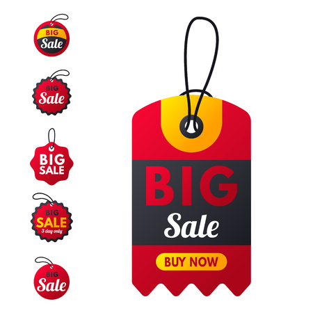 Super sale extra bonus red banners text label. Illustration