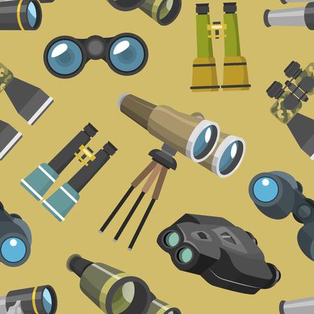 Professional camera lens binoculars pattern