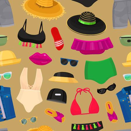 夏のビーチのファッションの服  イラスト・ベクター素材