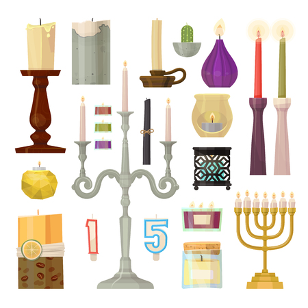 Candle different forms 向量圖像