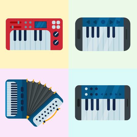 Toetsenbord muziekinstrumenten Stock Illustratie